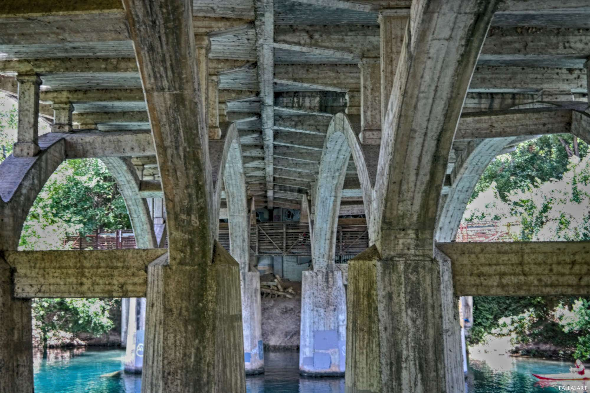 Barton Creek under Barton Springs Road Bridge