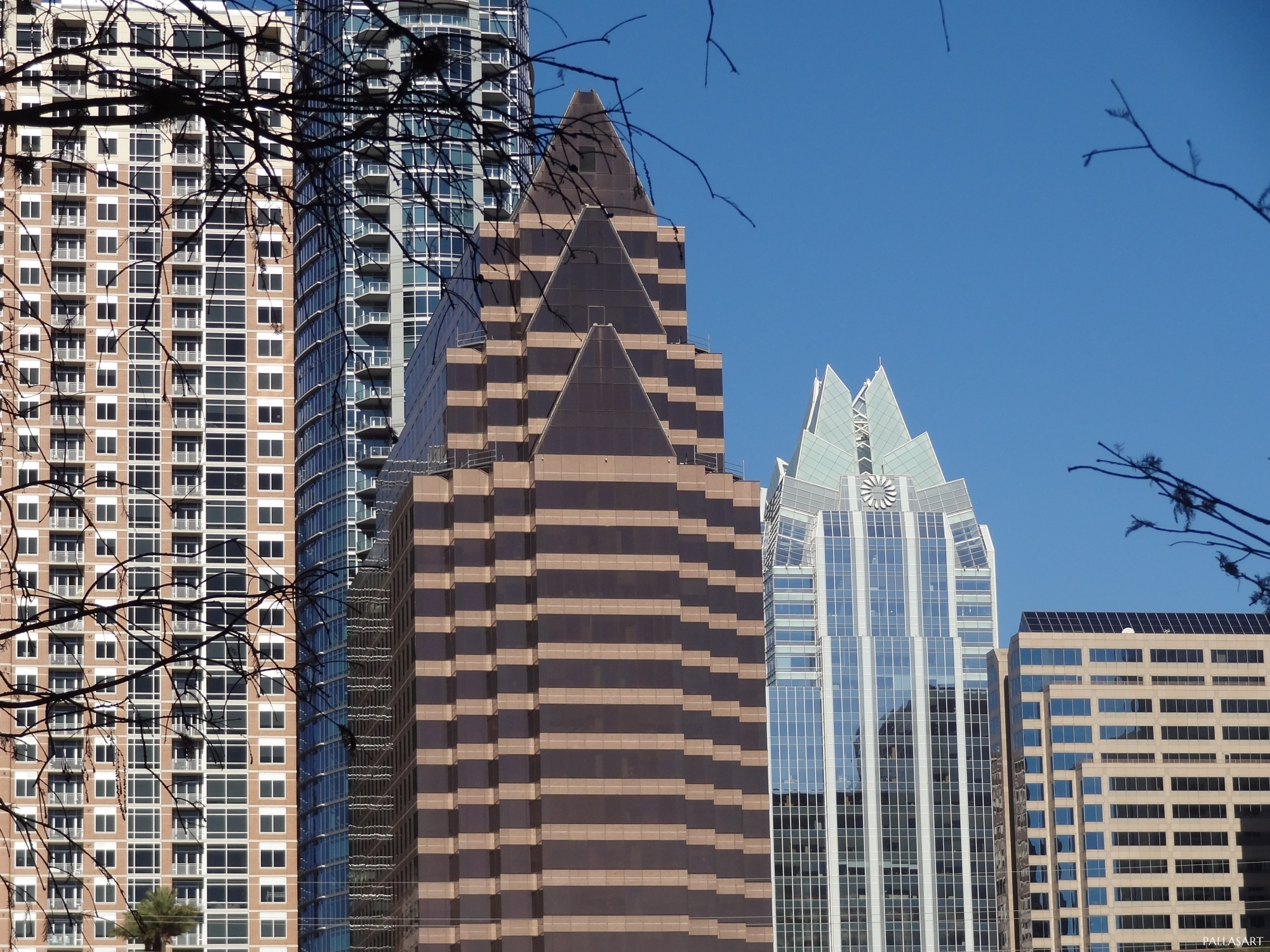 100 Congress Avenue, and Frost Bank Tower in Austin
