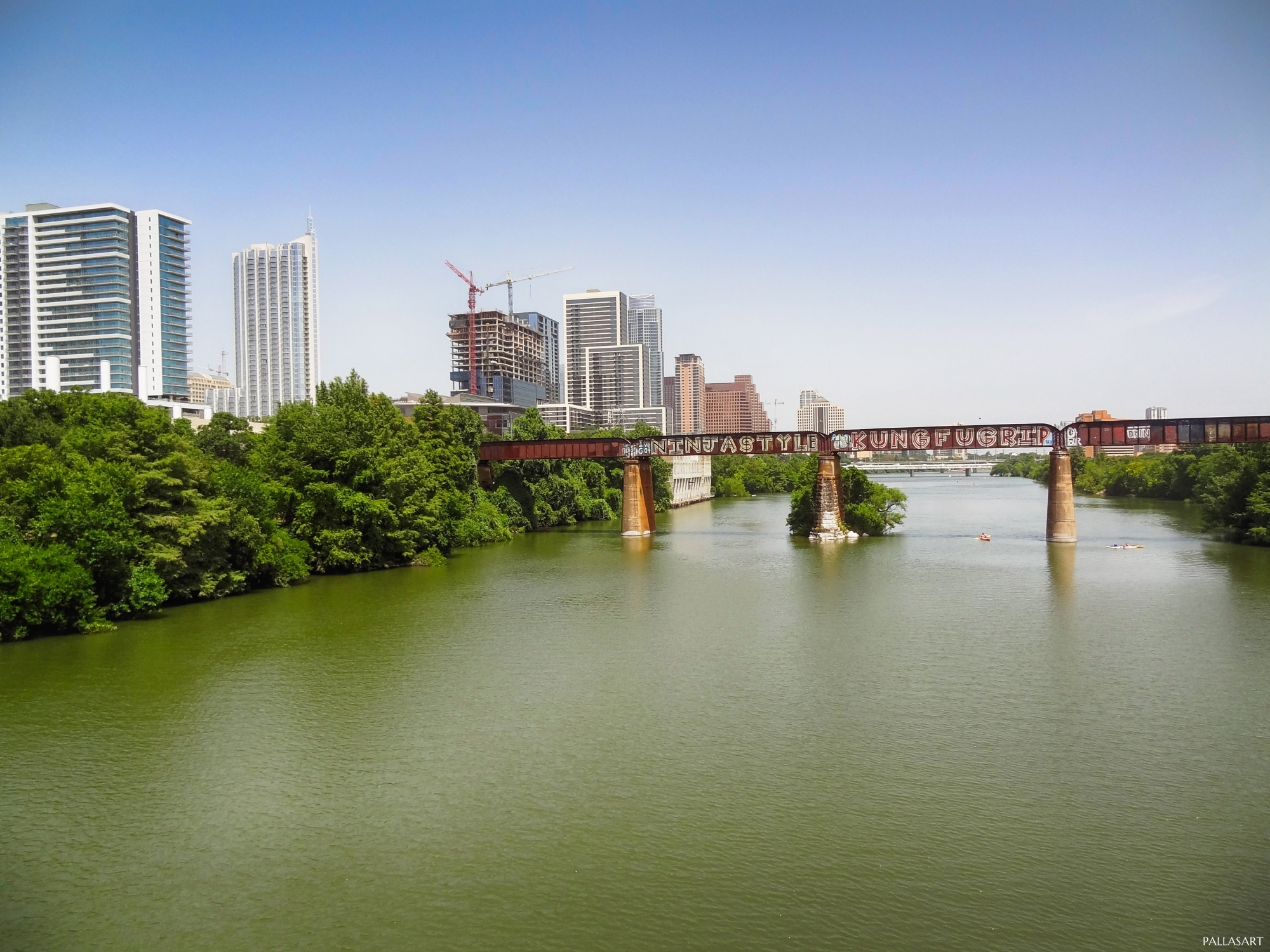 Railroad Tracks over Lady Bird Lake