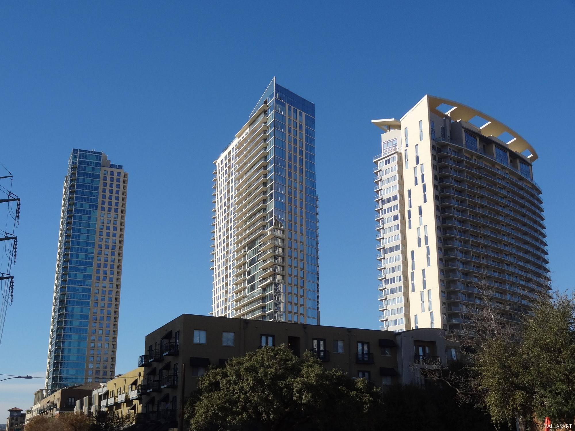 The Spring, The Bowie, The Monarch residential towers