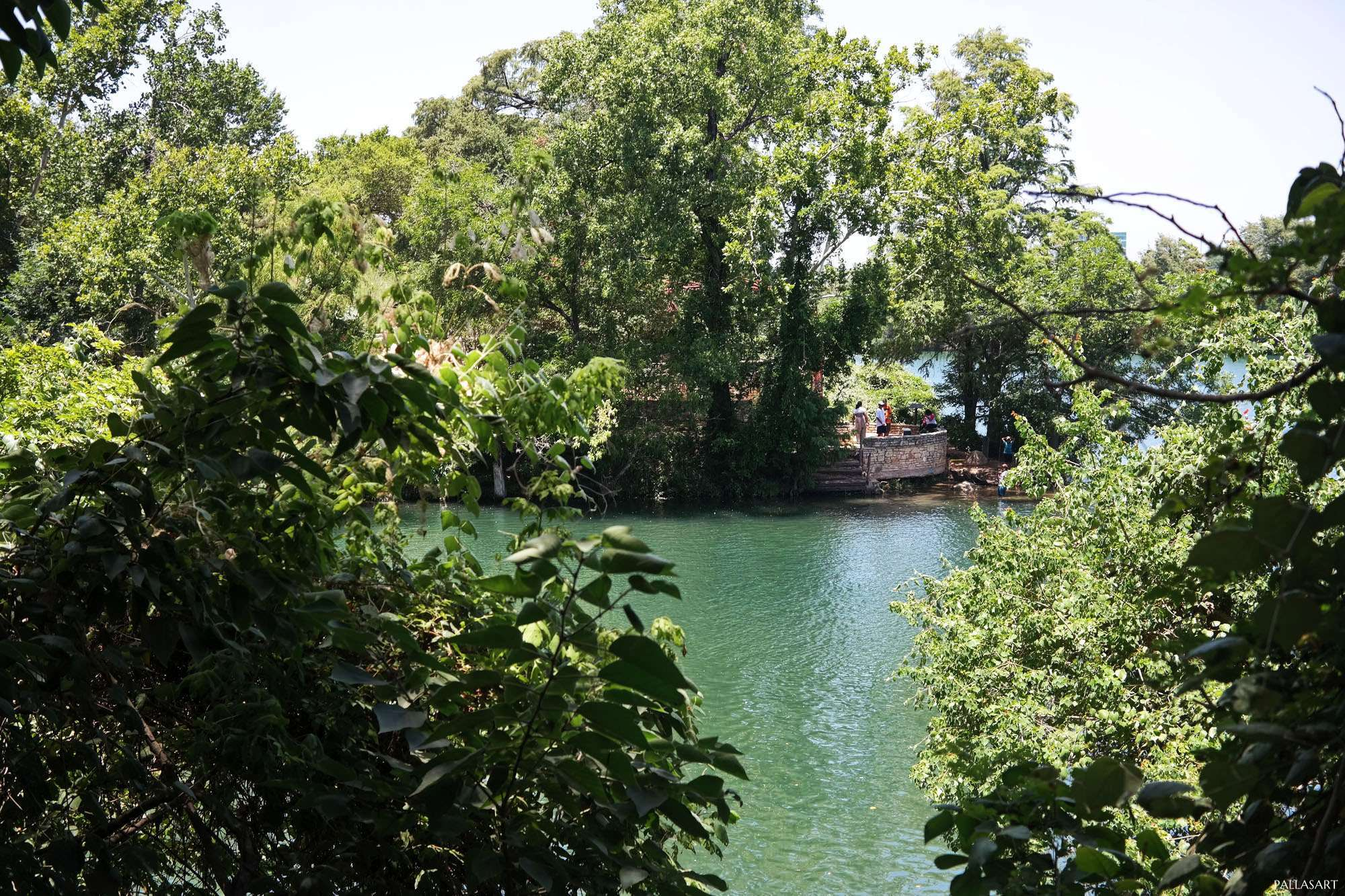 Lou Neff Point from across Barton Creek