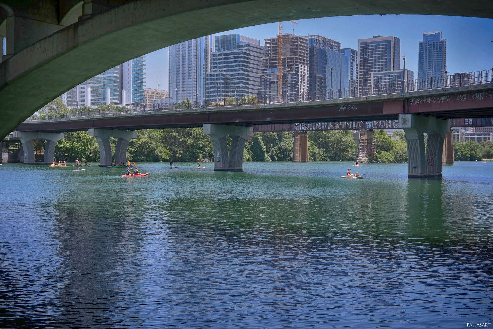 Pedestrian Bridge Over Lady Bird Lake