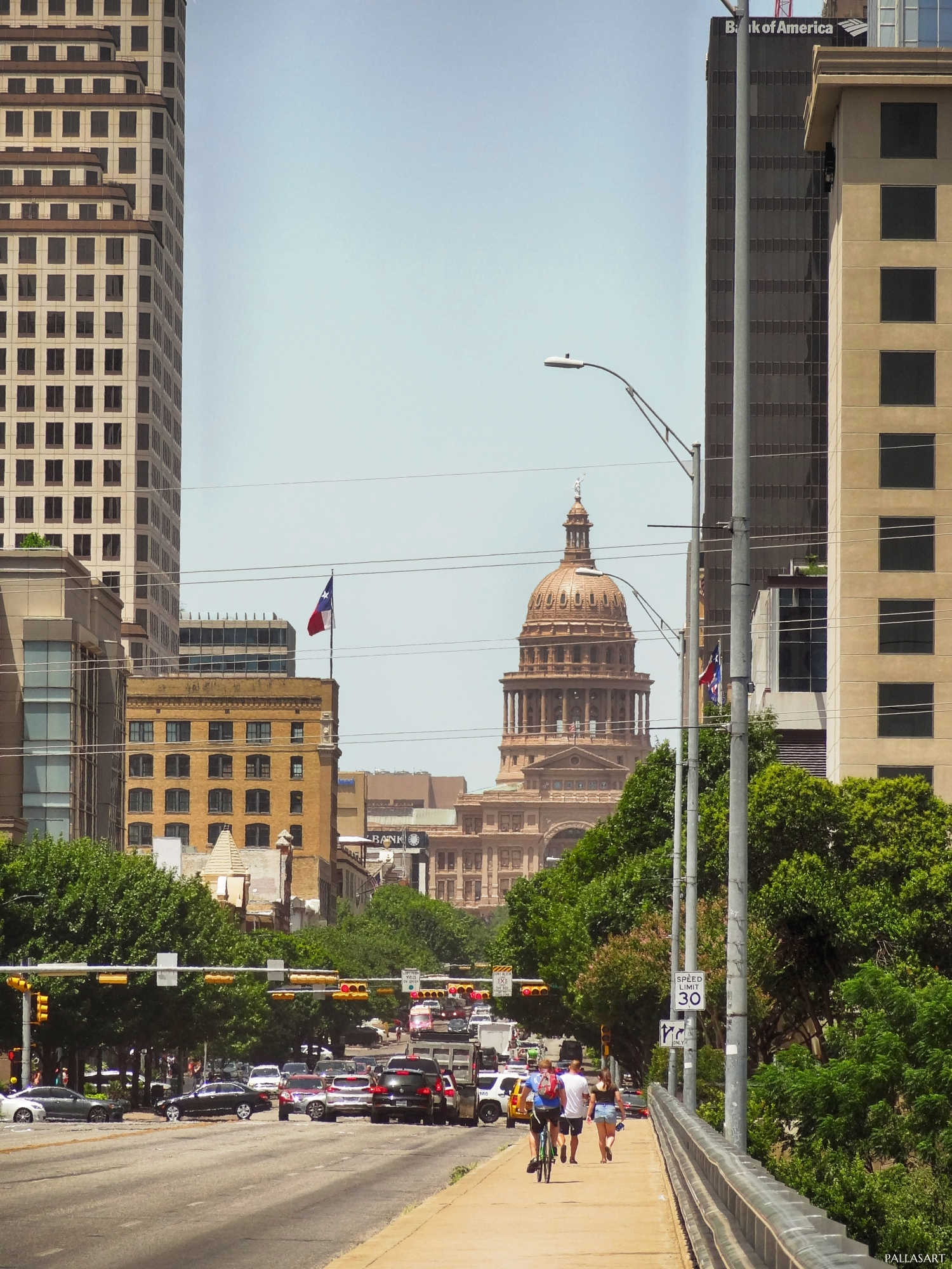 Congress Avenue Looking Towards Texas Capitol