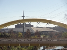 New Seaholm Bridge with Palmer Events Center in Background
