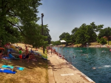 Barton Springs Pool Hot Summer