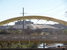Seaholm Wing Bridge over Shoal Creek in Austin, TX
