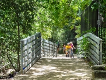 Kids Biking on Austin Hike and Bike Trail