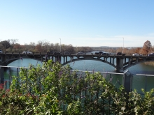 View of Lamar Blvd Bridge from Pedestrian Bridge in Austin, TX