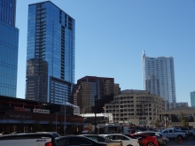 W Hotel, and 360 Condo Building Skyline in Austin, TX