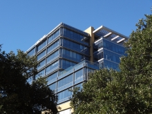 Inset of IBC Bank Building Austin, TX