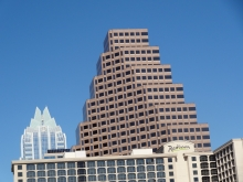 ustin Radisson Hotel with 111 Congress and Frost Bank Buildings