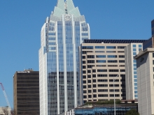 Frost Bank Tower on Congress Avenue in Austin