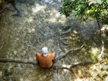 Man Sitting in Barton Creek