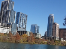 View of Austin from Auditorium Shores Park