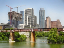 Austin Downtown Skyline Growing with Construction