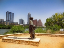 Stevie Ray Vaughan Statue on Auditorium Shores