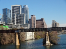 View of Downtown Austin from Lamar Pedestrian Bridge
