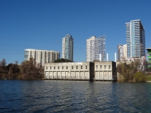 Seaholm Intake Facility on Lady Bird Lake in Austin, Texas
