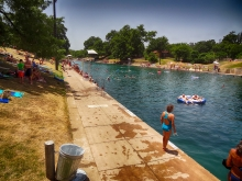 Barton Springs Pool July