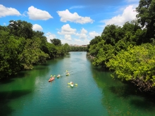Kayakers on Barton Creek