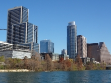 Buildings on North Shore of Austin's Lady Bird Lake
