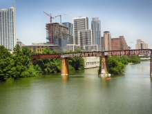 Downtown Austin Skyline - Ninja Style Kung Fu Grip Artwork