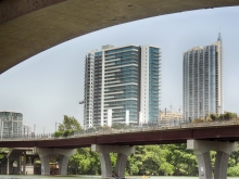 Under Lamar Bridge View Towards Seaholm Residences