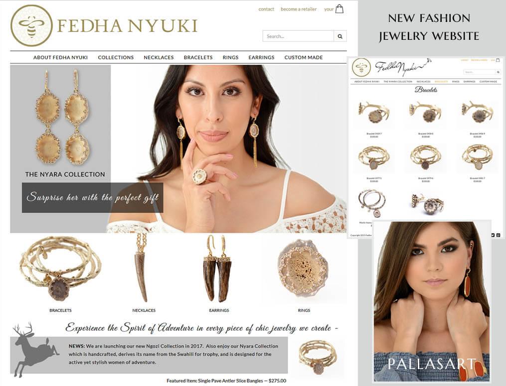 Fashion Beauty Jewellery Website Design Portfolio - From the pallasart design portfolio