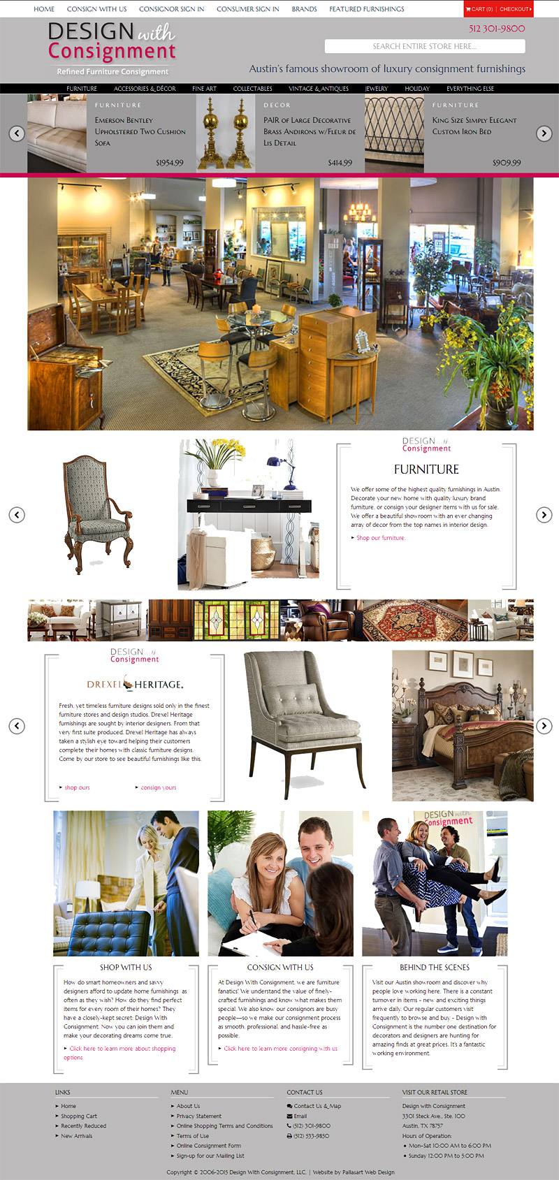 New Website for Austin's Design With Consignment Showroom