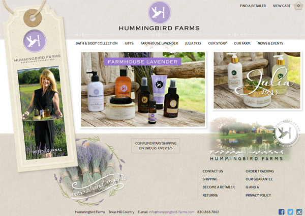 Hummingbird Farms Website