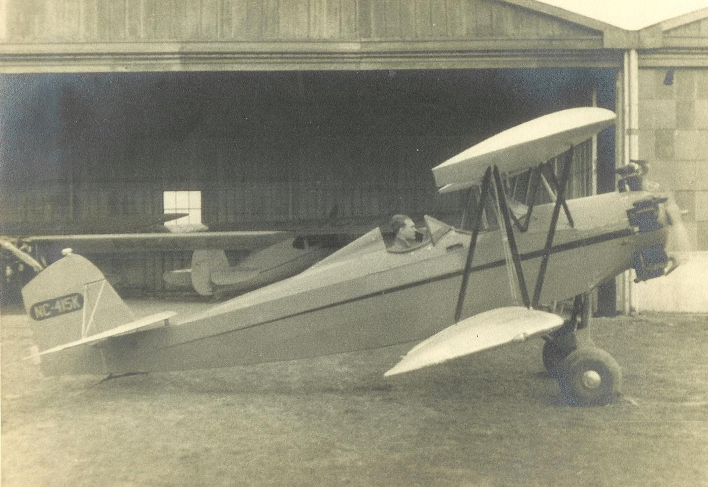 Ralph Coston in a Plane
