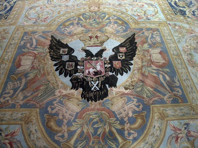Detailed view of the Romanov Double Eagle