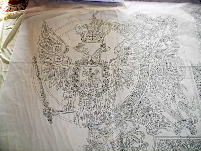 Drawing of the Romanov Rug