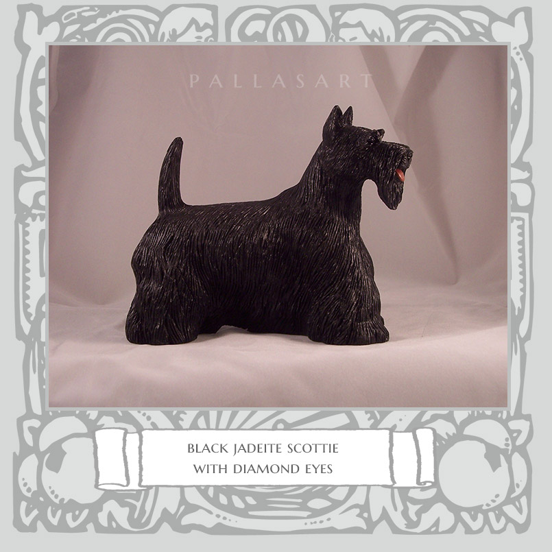 black jaeite scottie with diamond eyes