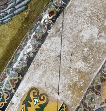Ghostly Shadow of a mosaic in Hagia Sophia of John V