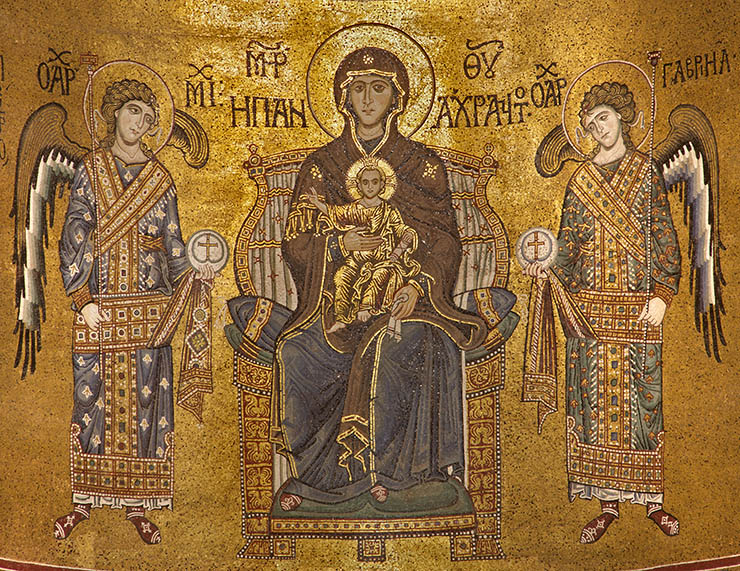 Theotokos Panakranta Mosaics Sicily