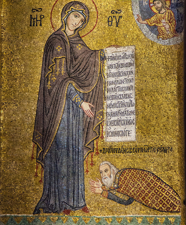 Theotokos with Admiral George