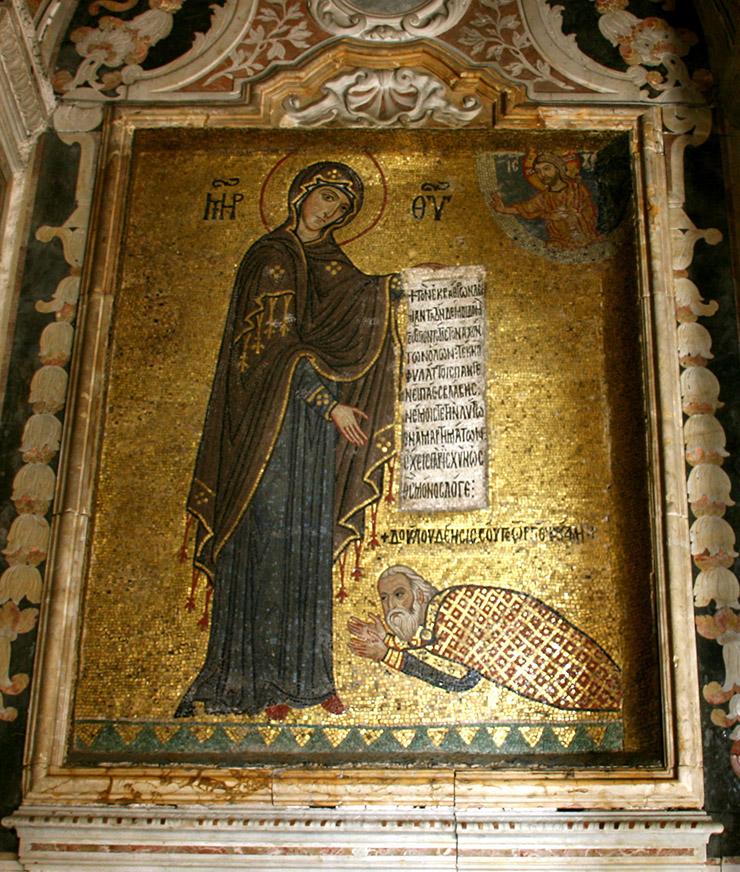 Mary the Theotokos Byzantine mosaic