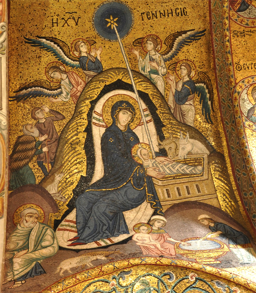 Norman Mosaic of the Nativity Sicily