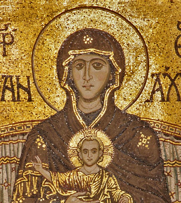 Theotokos Panakranta Byzantine Mosaic