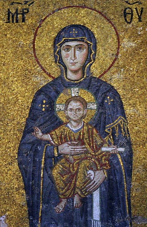 Hagia Sophia Mosaic Of John Comnenus Eirene Alexios