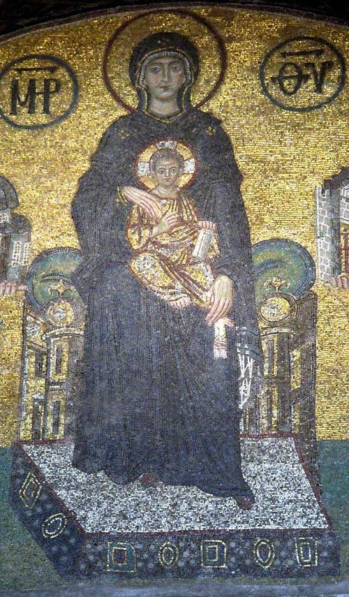 Virgin in Hagia Sophia