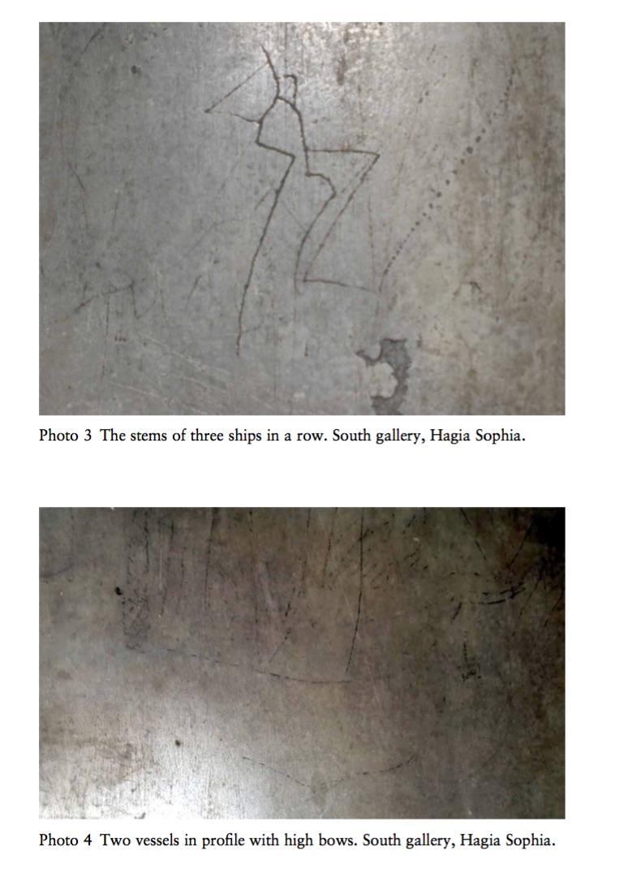 Pictures of Viking Graffiti in Hagia Sophia