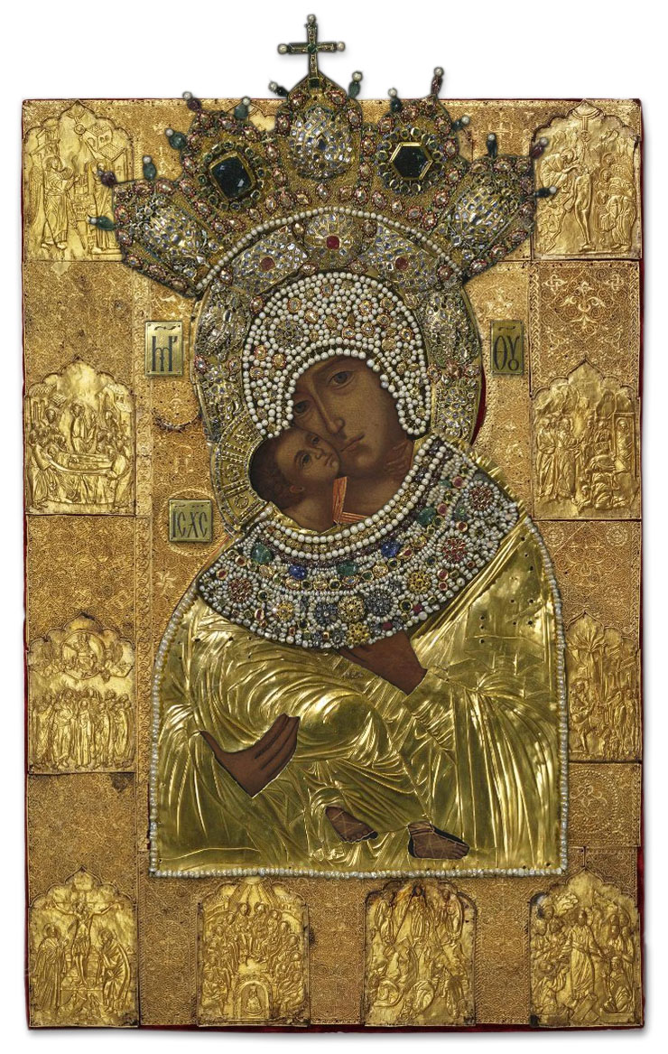 The Virgin of Vladimir - restored with covers