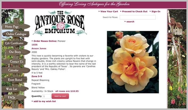 Antique Rose Emporium Screen Shot