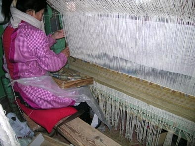 The Weavers making the Romanov Carpet