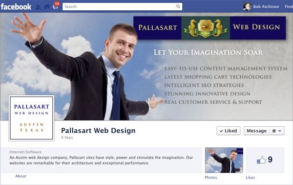 Pallasart in Facebook - how it looks