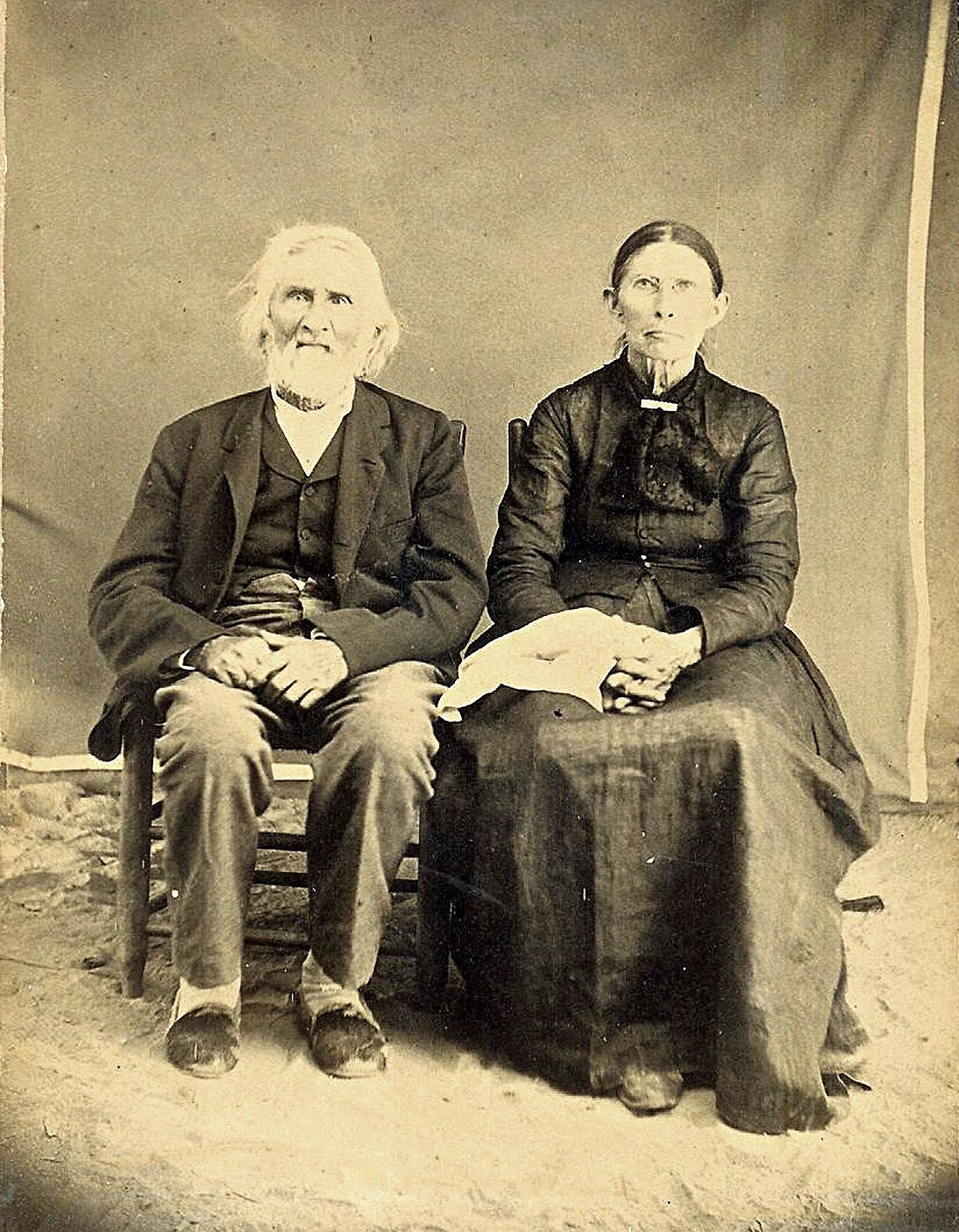 Willian Shoe Boots Ellington and his wife Martha Ann Long